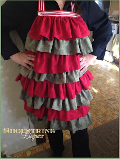 diy ruffled holiday apron