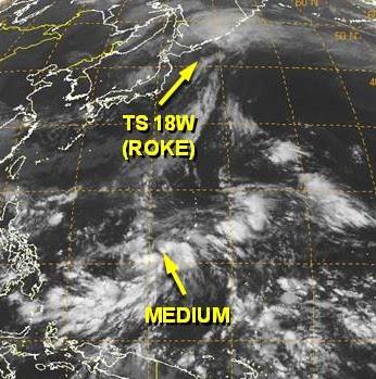 Das Wort zum Donnerstag, 22. September 2011: Nicht auf jeden ROKE folgt ein NESAT, denn da ist immer noch SONCA, Pazifik, Das Wort zum, Sturmwarnung, Mexiko, Hilary, Taifun Typhoon,