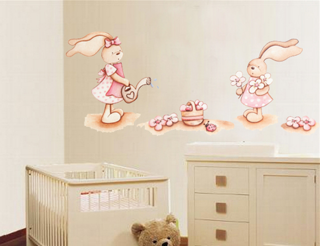 Decopared pegatinas infantiles para decorar las paredes for Vinilos de bebe nina