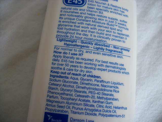 E45 Body Lotions Review