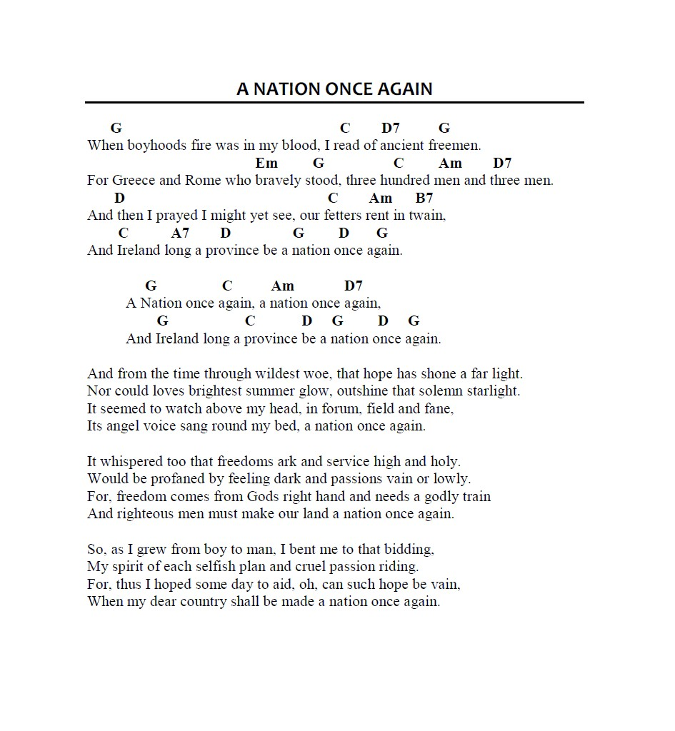 The Wolfe Tones - A Nation Once Again - YouTube