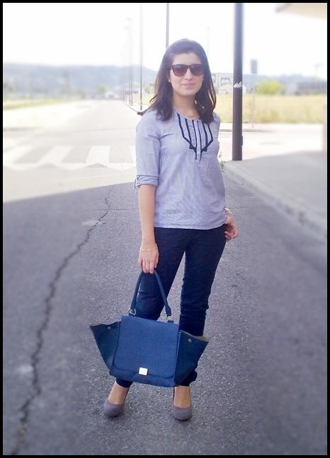 Pantalon Azul Marino Outfit