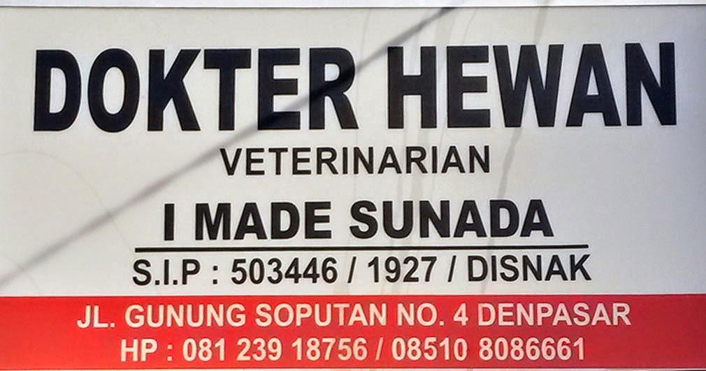 Dokter Hewan Denpasar - drh. I Made Sunada