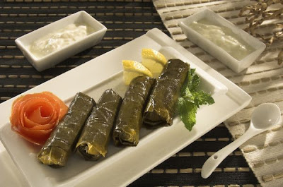 Grape Leaves With Pomegranate Molasses Recipe