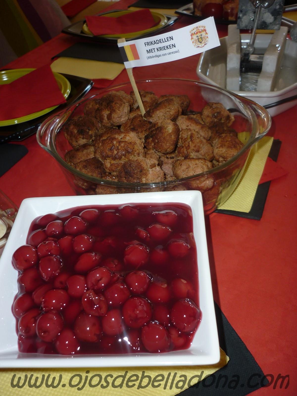 Frikadellen met krieken (Albóndigas con cerezas), Bélgica