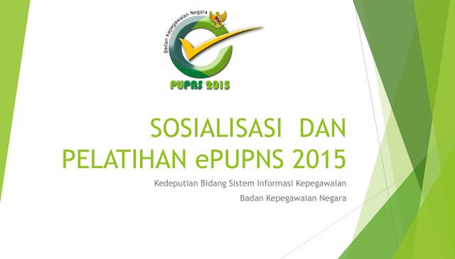 sosialisasi pelatihan E-PUPNS 2015