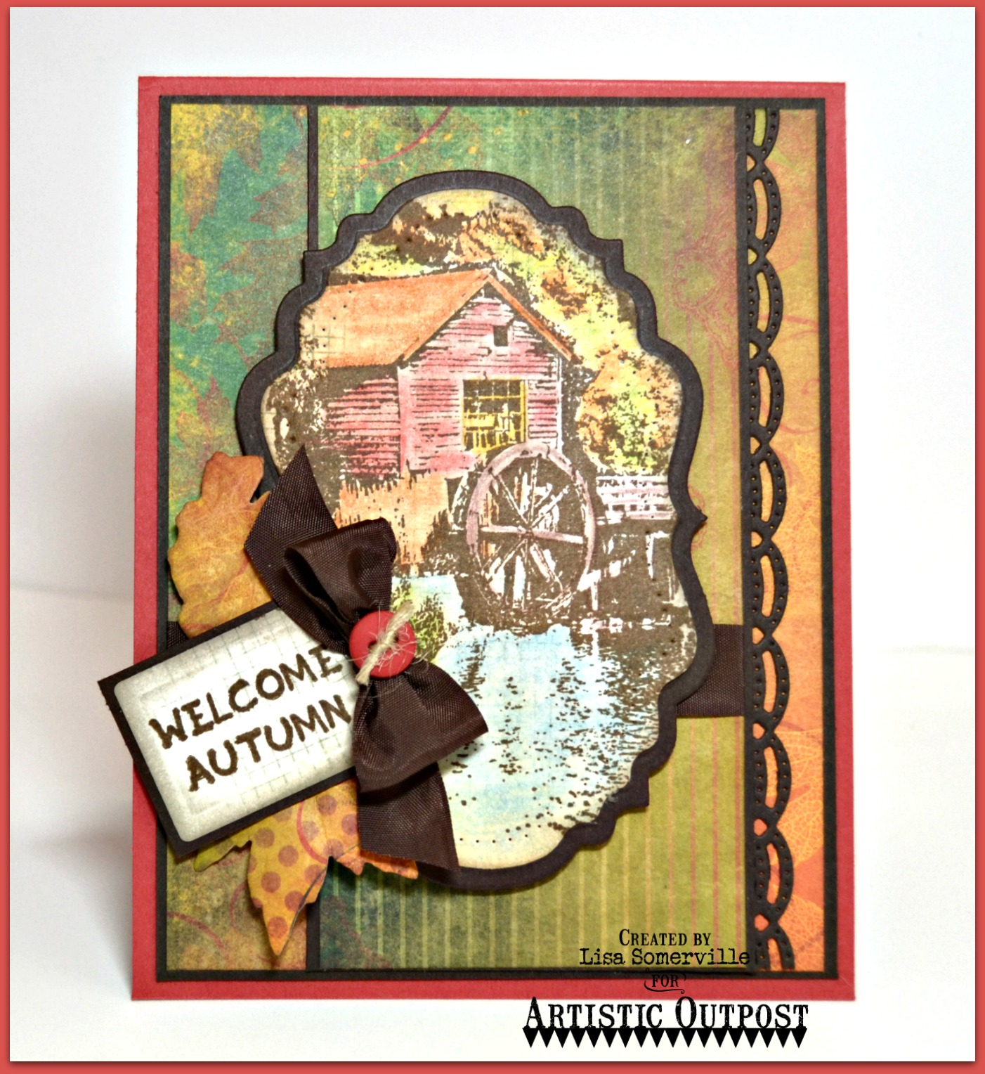 Stamps - Artistic Outpost Old Grist Mill, Hayride, Our Daily Bread Designs Custom Recipe Card and Tags Dies/Beautiful Borders Dies/Vintage Labels Dies/Vintage Flourish Pattern Dies/Fall Leaves and Acorn Dies