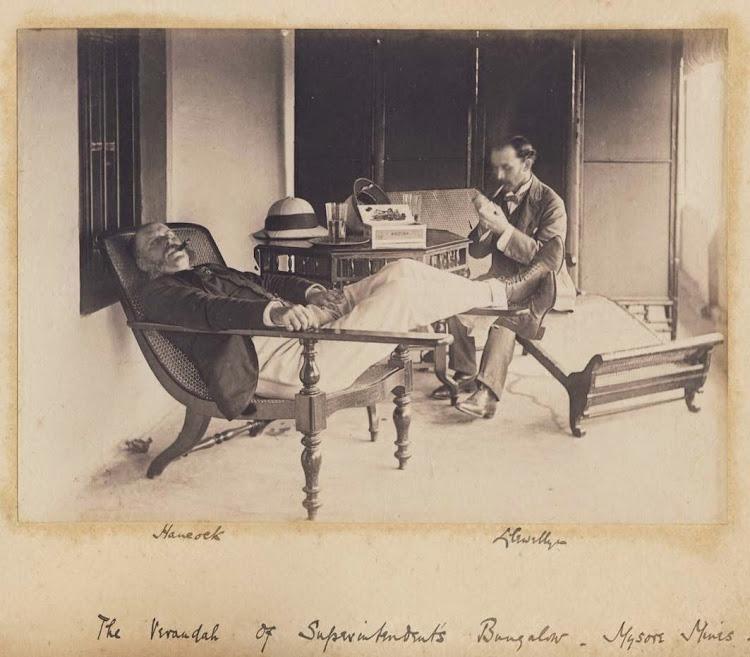 The Verandah of Superintendent's bungalow - Mysore Mines 1890's