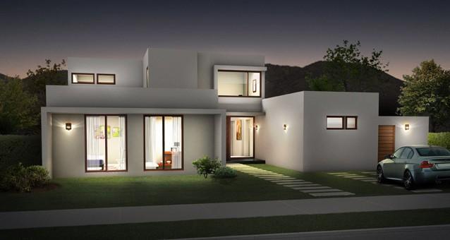 Fachadas de casas julio 2012 for Pintura para frente de casas