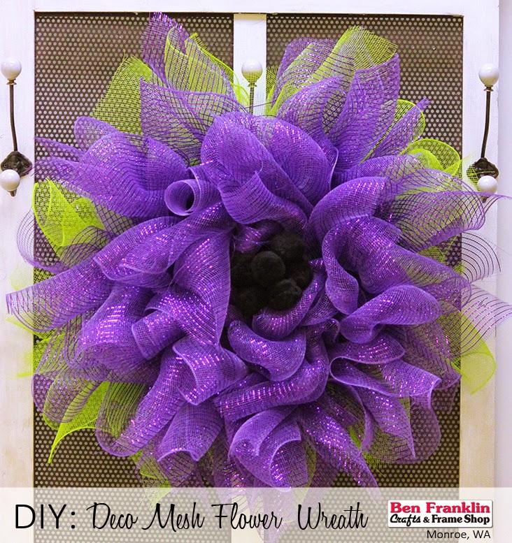 And frame shop monroe wa diy deco mesh flower wreath tutorial