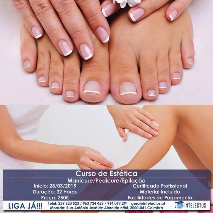 Curso de estética (manicure / pedicure / epilação) em Coimbra