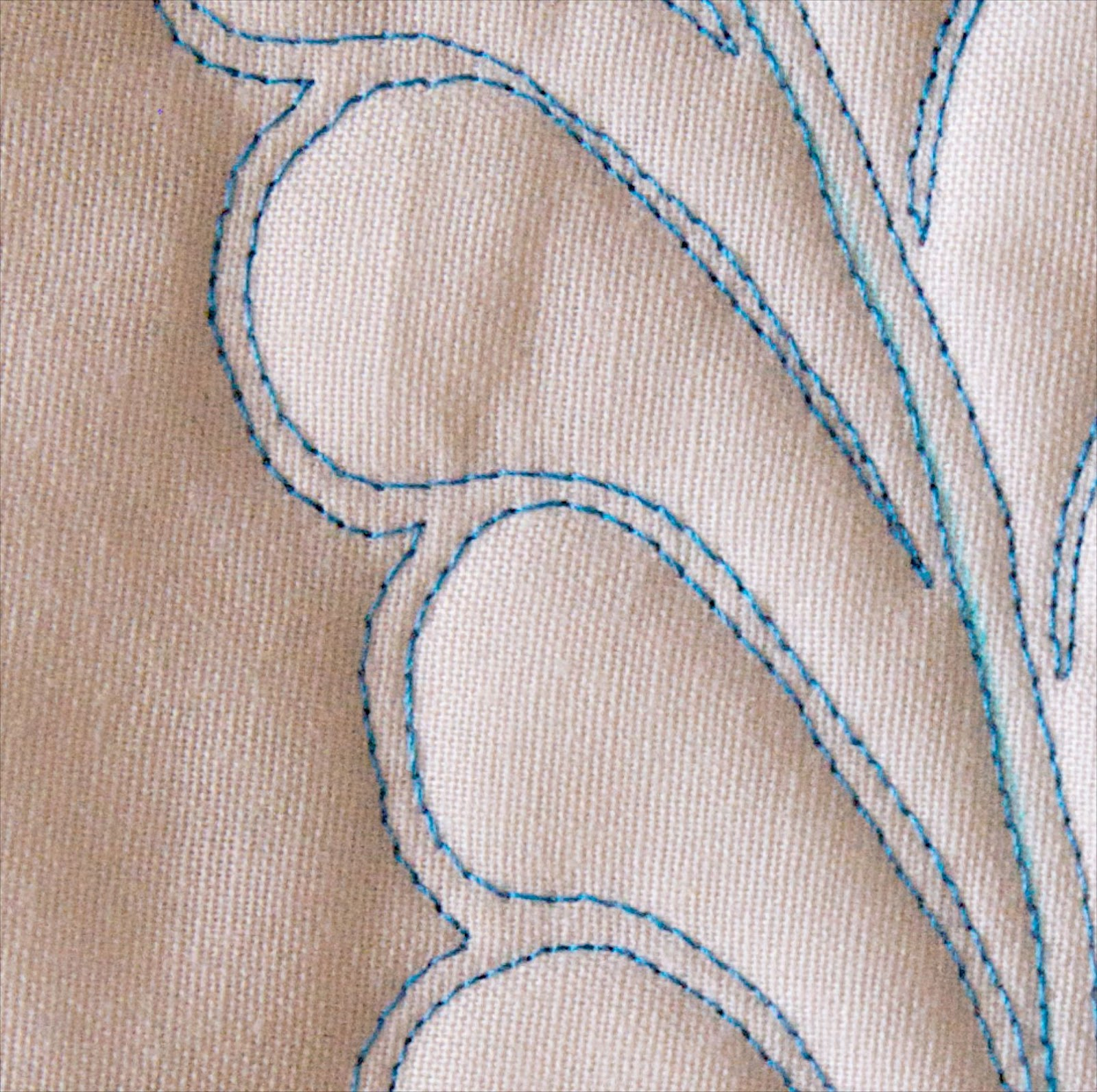 Infinite Feathers Quilting Design Template