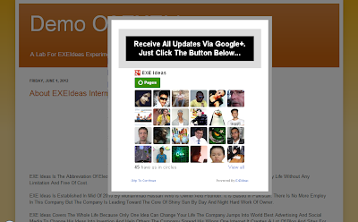 CSS-LightBox POP-UP Google Plus Circle Widget For Blog & Website