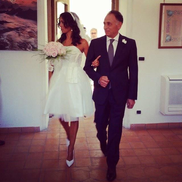 abiti da sposa vip, abito sposa caterina balivo