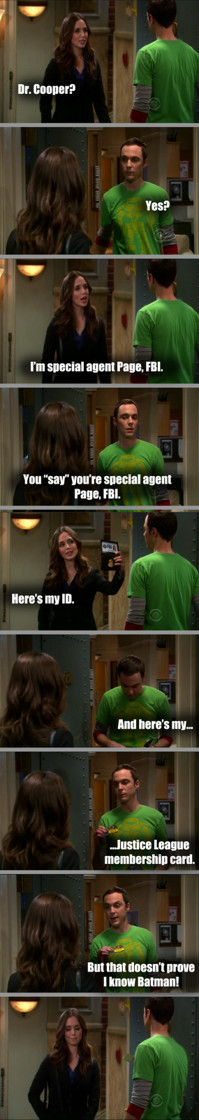 The Time When Sheldon Cooper Met A Hot Police Officer!
