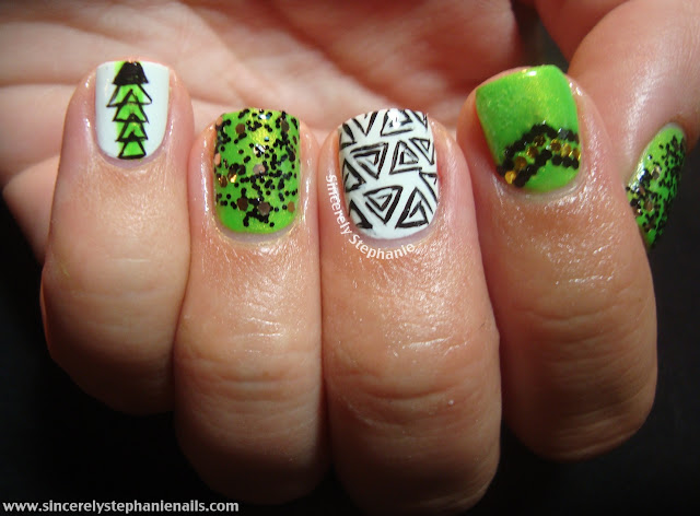 31 day nail art challenge green