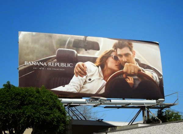 Banana Republic True Outfitters Bekah Jenkins Cory Bond billboard