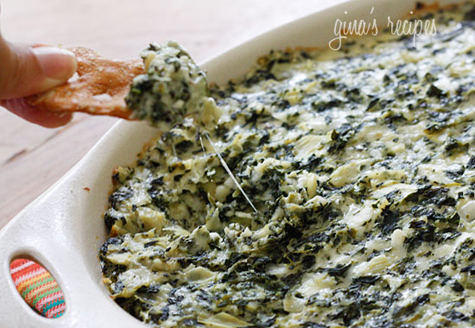 Skinny Hot Spinach and Artichoke Dip Recipe - Enticing Entertaining