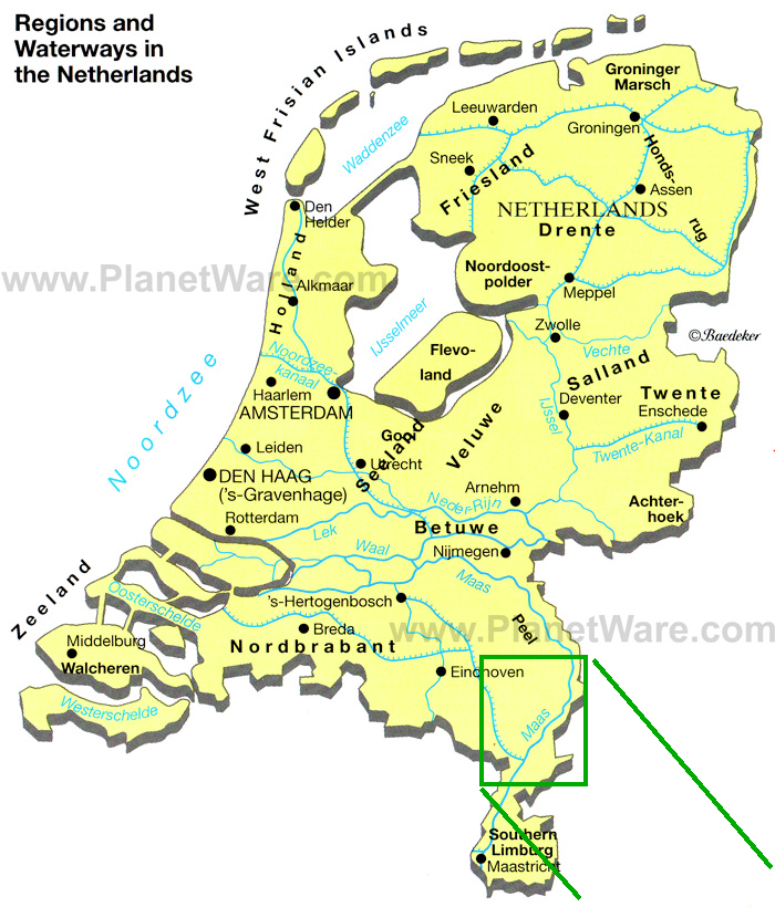 Netherlands Map Venlo