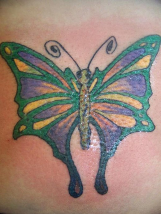 Awesome Large Butterfly Tattoos