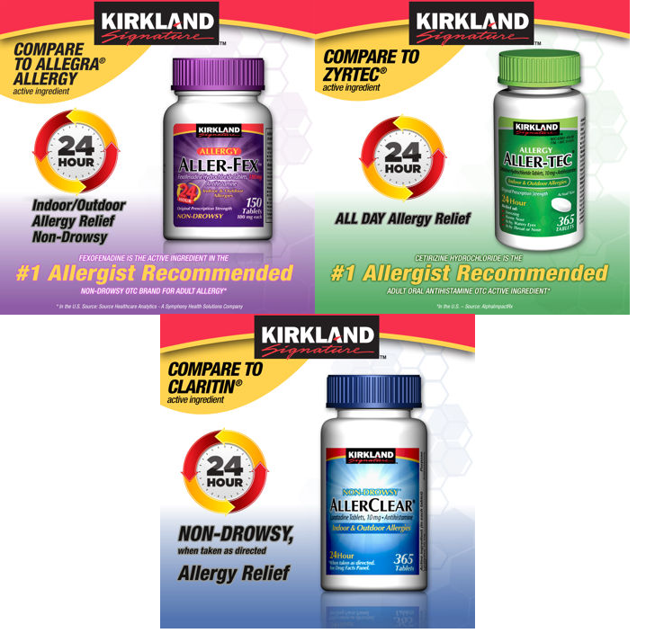 Kirkland Generic Allergy Medication Sale: 365-Ct Generic