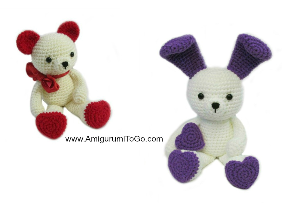 Bunny Ears For Valentine Bear ~ Amigurumi To Go
