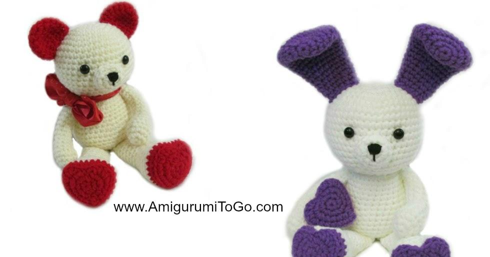 Amigurumi Bunny Ears : Bunny Ears For Valentine Bear ~ Amigurumi To Go