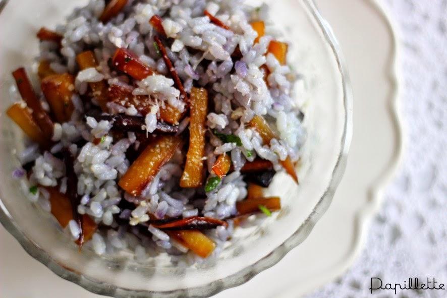 risotto carottes violettes