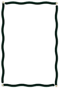 節分のフレーム素材(恵方巻き・波線)縦