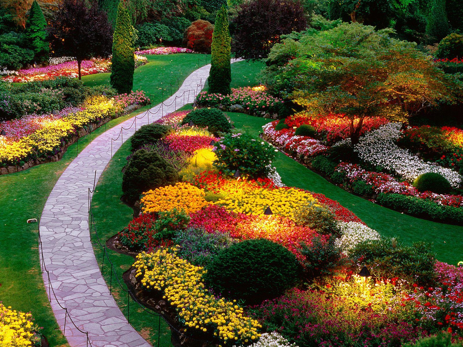 Beautiful Garden Custom Of Beautiful Flower Garden Pictures