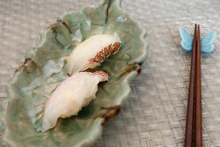 櫻鯛魚+紅喉魚 握壽司