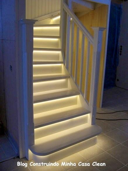 Construindo Minha Casa Clean 20 Escadas Modernas com Iluminação!!! # Cielo Wasbak_004145