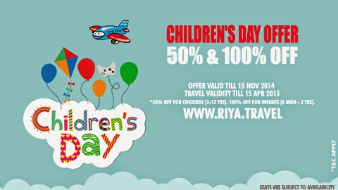 Children day offer on flight booking