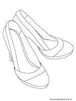 Mewarnai Gambar Sepatu kerja Ibu