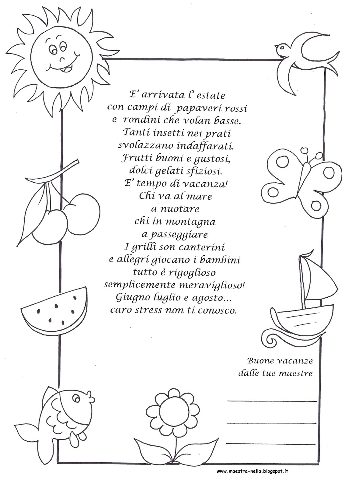 Poesie autunno bambini scuola primaria wq19 regardsdefemmes for Maestra valentina estate