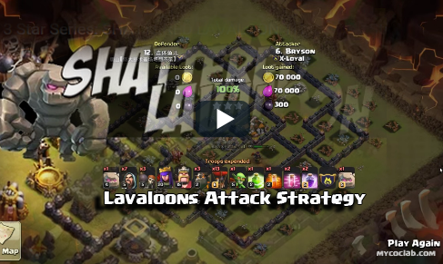 Th9 3 stars attack using Lavaloon