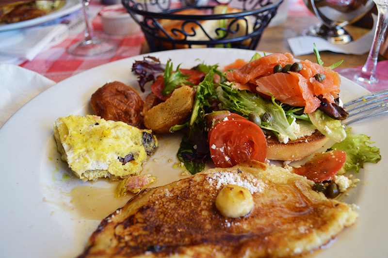 Mixed breakfast plate at Le Bouchon du Grove