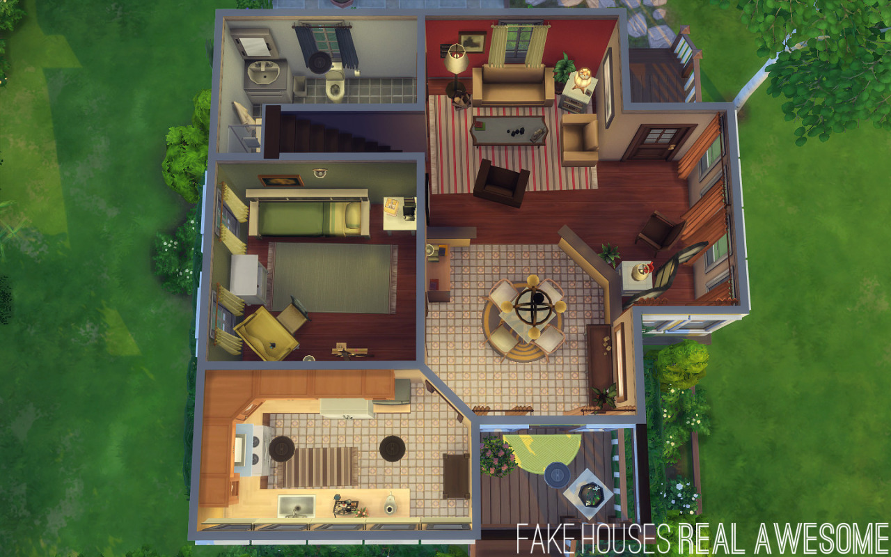 My sims 4 blog bloomsbury house by fake houses real awesome for Awesome sims