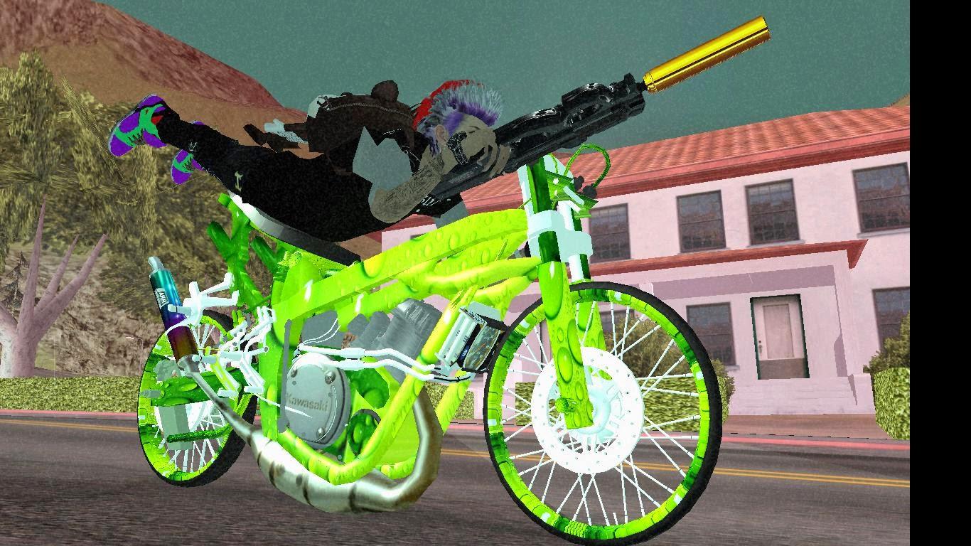 Cyber' Team: GTA SAN ANDREAS MOD Drag Bike Ninja kips Pucuk 2 Tak