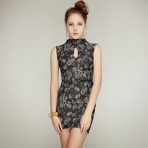 Oriental Rosalin Denim Dress