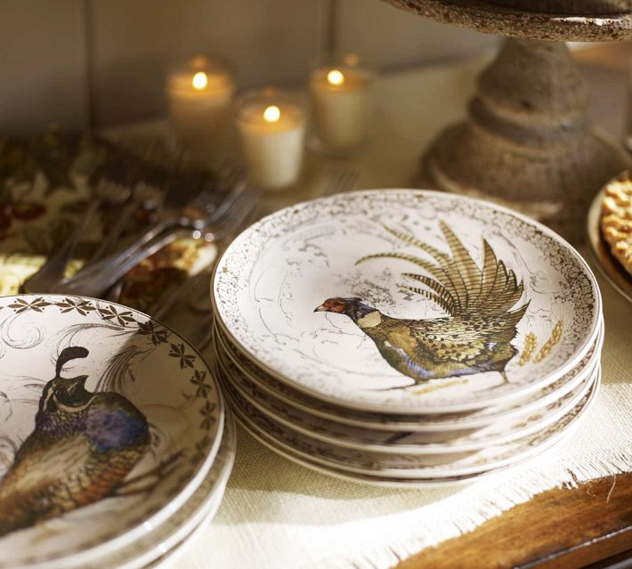 And finally these plates from Pottery Barn are currently available for you to start your instant Thanksgiving plate collection if hunting for years in ... & vignette design: Letu0027s Talk Turkey