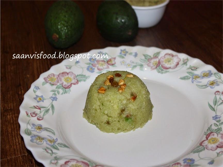 Avocado Sooji Halwa
