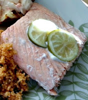 Baked Salmon with Lime