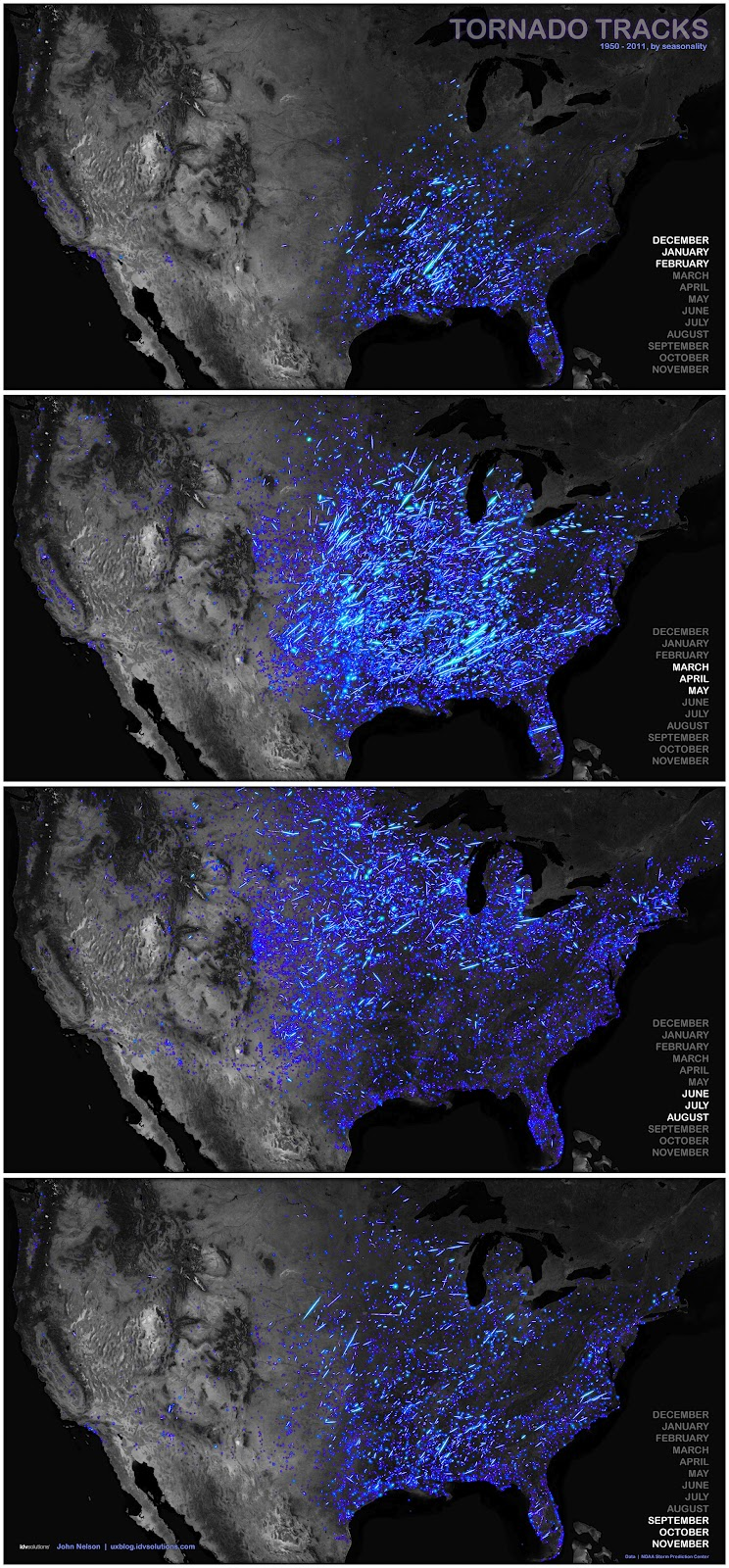 Interactive Tornado Tracks Map Is Live