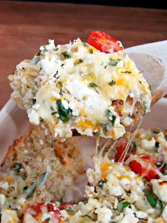 Cheesy Greek-Style Baked Quinoa Recipe