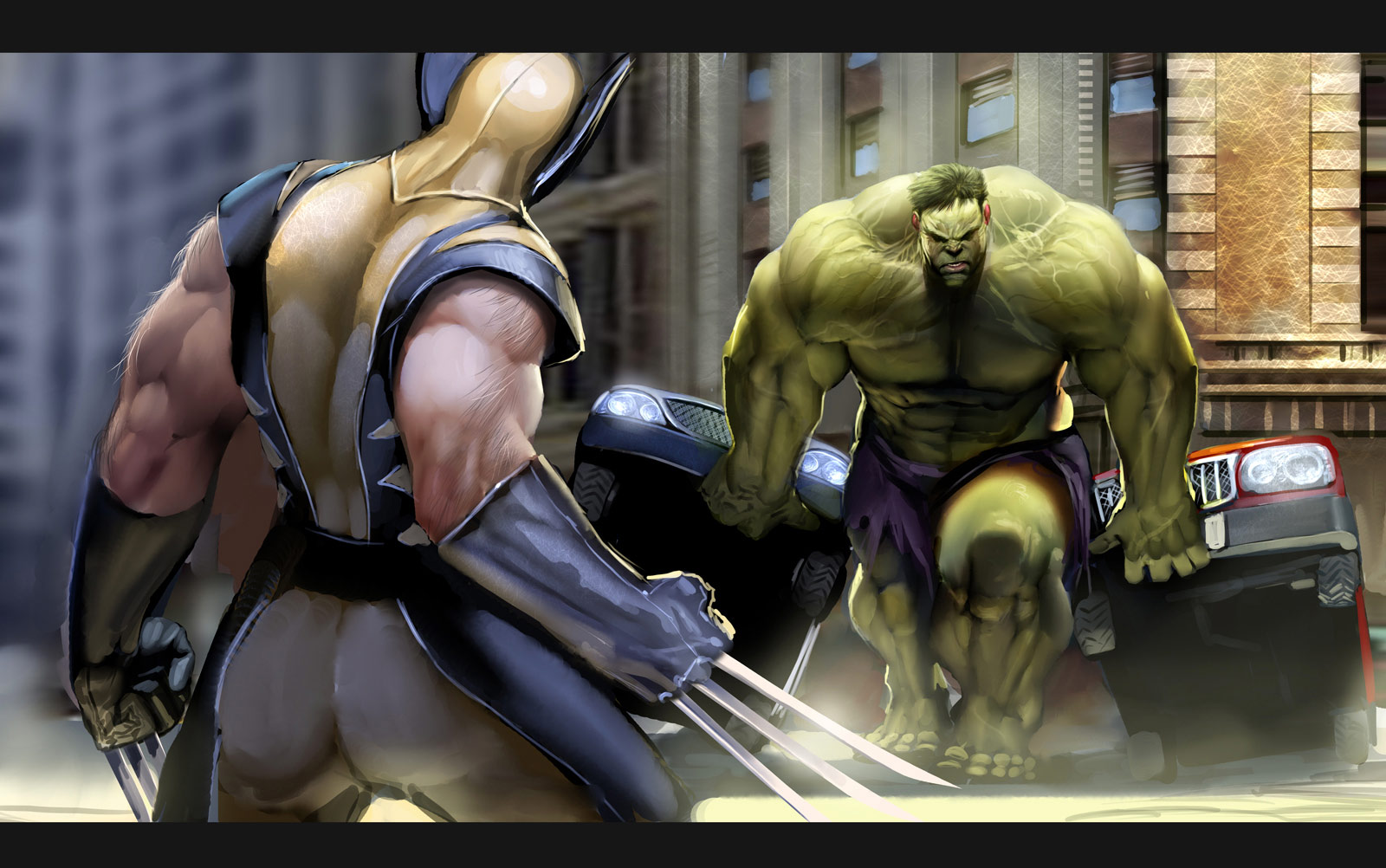 Wolverine vs hulk comic wallpaper