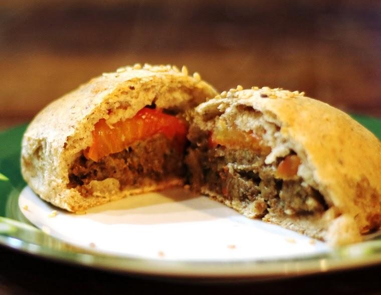 Hambúrguer Integral de Forno (vegana)