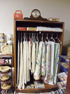 Our Vintage collection of Quilts, Tablecloths, and linens