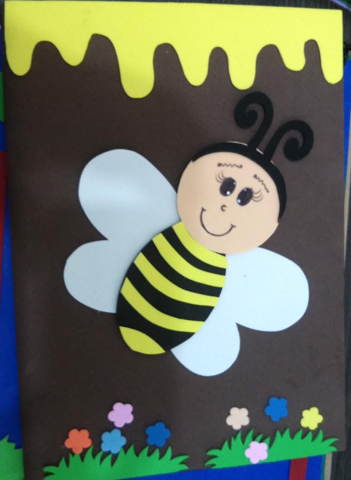 Prof ivani ferreira artes em eva abelhas for Mural de isopor e eva