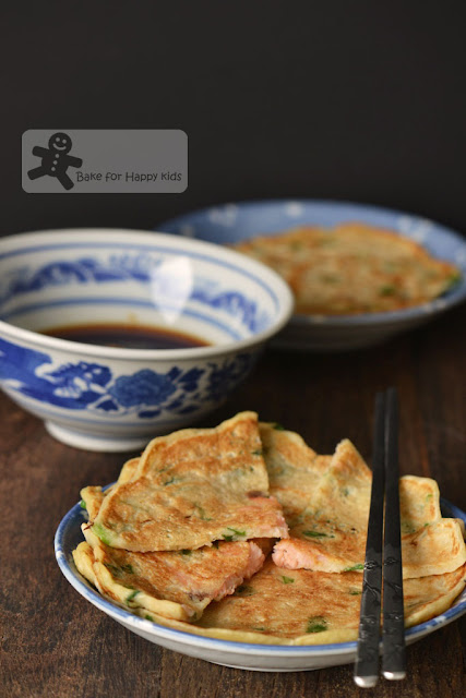 Traditional Korean Rice Pancakes Pajeon